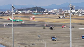 Nagoya Airfield - View from Airport Walk towards the field (2010)