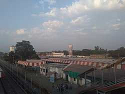 View from Lalkuan Junction railway station