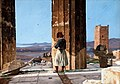 View from the Parthenon with smoking Greek 1835.jpg