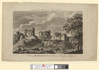 View of Hawarden Castle in Flintshire