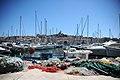 View of the Quai Rive Neuve and the Basilique Notre Dame de la Garde, Old Port of Marseille, Provence-Alpes-Côte d'Azur, Southeastern France , Western Europe.jpg