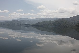 Lake Kivu - The sky reflected on Lake Kivu