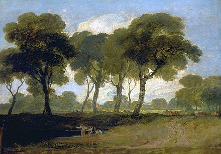 View on Clapham Common by J. M. W. Turner (1800-1805) View on Clapham Common by Turner.jpg