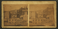 View over some roof tops of Galena buildings and churches, by Lamberson & James' Fine Art Gallery.png