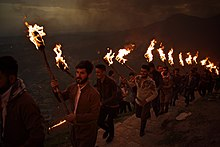 Views of the fire walk for the Newroz festival in Akre in 2018 10.jpg