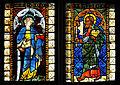 Viktring Stiftskirche Glasmalereien rechtes Fenster Apostel Simon und Mathias 07052011 333.jpg