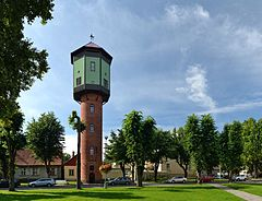 Water tower in Viljandi, Estonia
