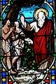 Villeréal - Église Notre-Dame - Vitrail de scènes de la Genèse -1.jpg