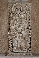 Virgin Mary with baby Jesus in backyard of Armenian Apostolic church of the Holy Archangels, Jerusalem.jpg
