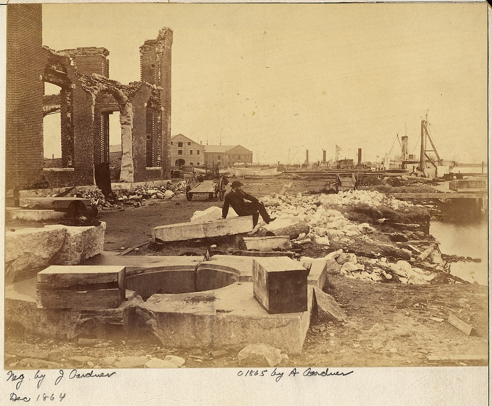 Virginia, Norfolk Navy Yard, Ruins of - NARA - 533292