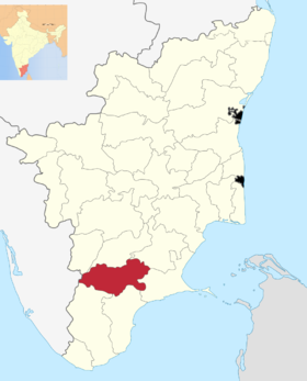 Localisation de District de Virudhunagar