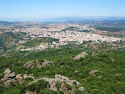 View of Nuoro from the Ortobene mountain