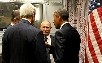 Russian involvement in the Syrian Civil War - Barack Obama meets with Vladimir Putin to discuss Syria, 29 September 2015
