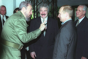 Foreign relations of Cuba - Fidel Castro with Russian President Vladimir Putin, December 2000