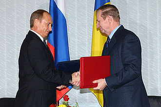 Russia–Ukraine relations - Vladimir Putin and Leonid Kuchma in December 2003.