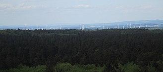 Vogelsberg - View from the Bismarck Tower on the Taufstein (2015)