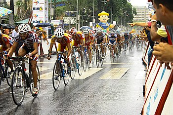 Peloton at the last stage of the 2009 Vuelta a Venezuela