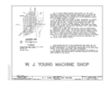 W. J. Young Machine Shop, South Tenth Street and Second Avenue, Clinton, Clinton County, IA HAER IOWA,23-CLINT,2- (sheet 1 of 14).png