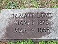 W. Matt Lowe grave, Minden, LA IMG 2297.JPG