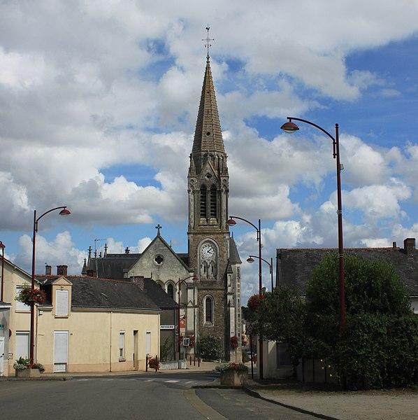Église Sainte-Melaine, XVIII°-1849-1861-1895, Les Touches.