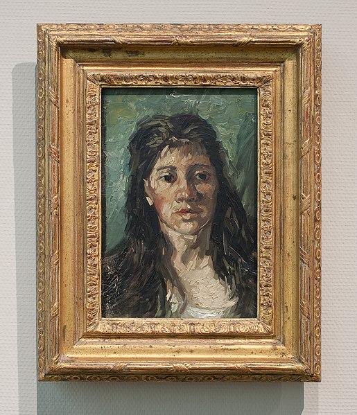 File:WLANL - Pachango - Kop van een vrouw met loshangend haar, Vincent van Gogh (1885).jpg