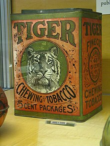 WLA nyhistorical Tobacco tin Bright Tiger Chewing Tobacco.jpg