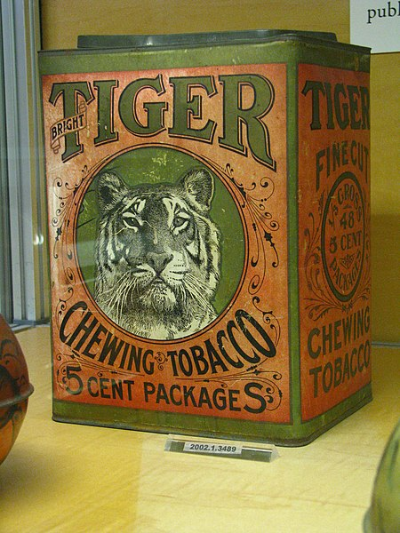 Ofbyld:WLA nyhistorical Tobacco tin Bright Tiger Chewing Tobacco.jpg