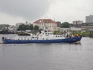 Wasserschutzpolizei - Boat of the Bremen Wasserschutzpolizei in Bremerhaven