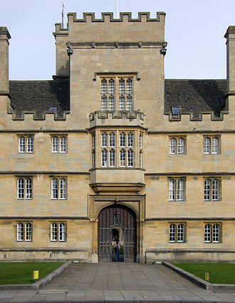 Wadham College, Oxford - College entrance on Parks Road