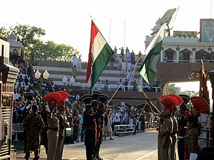 Wagah border ceremony - The Wagah Border ceremony.