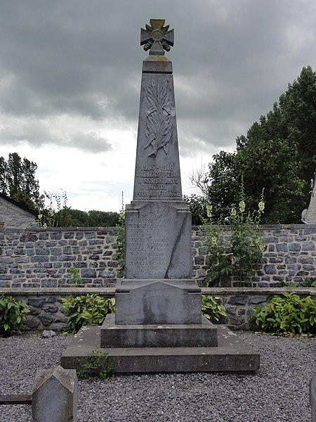 Wallers-en-Fagne (Nord, Fr) monument aux morts