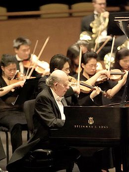 Walter Hautzig Playing the Grieg Concerto in the Rose Theater at Lincoln Center, New York City.jpg