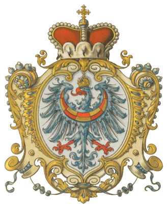 Duchy of Carniola - Coat of arms of the Carniolan crown land with archducal hat, as drawn by Hugo Gerard Ströhl (1851–1919)