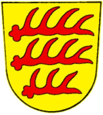 Veringenstadt - The arms of the Counts of Veringen (extinct 1415)