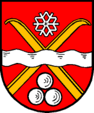 Snowflake (heraldry) - Image: Wappen at saalbach