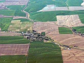 Wasco, Oregon - Aerial view of Wasco