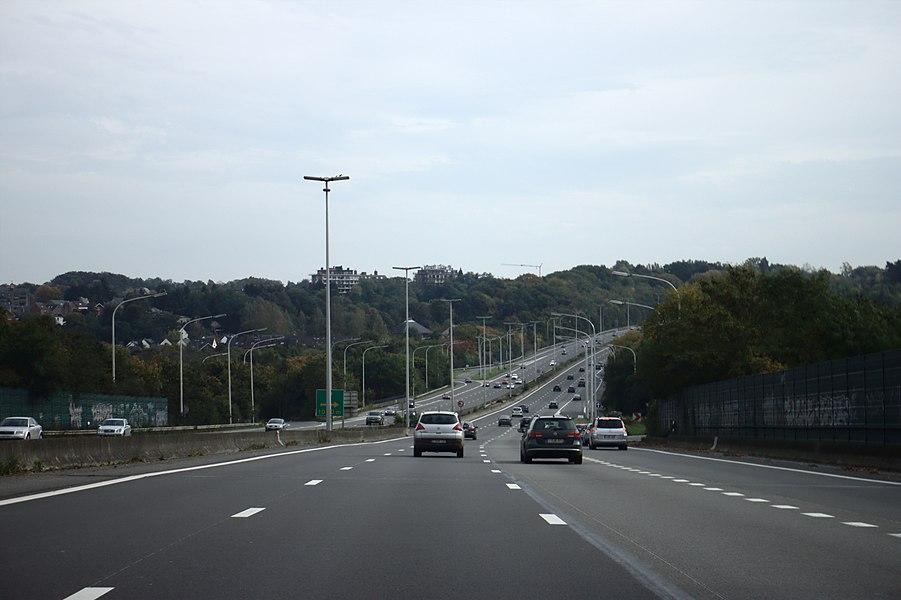 A4 Highway near Wavre, Belgium