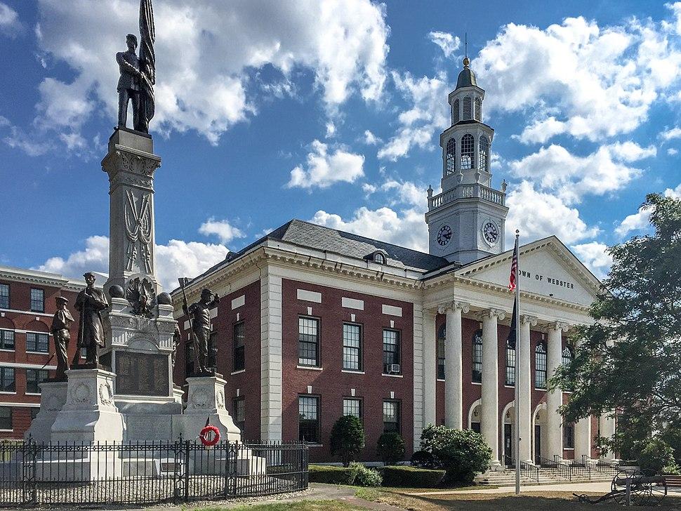 Town Hall, Webster, Massachusetts