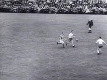 The KNVB Cup final in 1944 between Willem II and Groene Ster