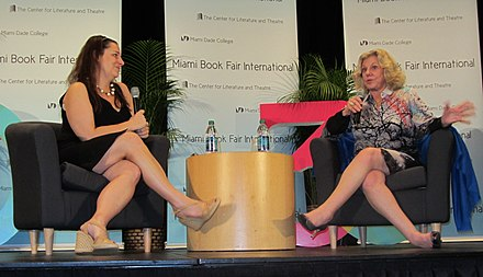 Jennifer Weiner and Erica Jong at the Miami Book Fair International 2013 Weiner, Jennifer & Jong, Erica -MBFI 2013 fRF 03.jpg