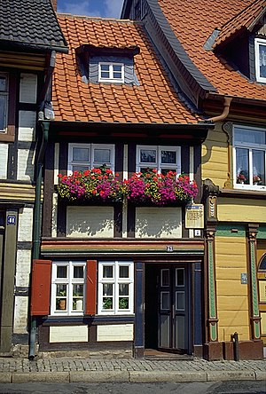 German Timber-Frame Road - Smallest House in Wernigerode