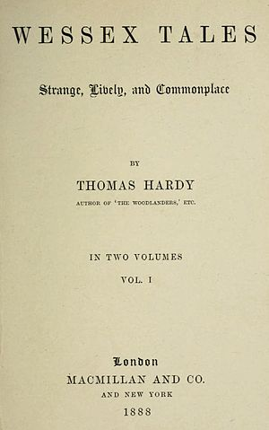 Wessex Tales - First edition title page