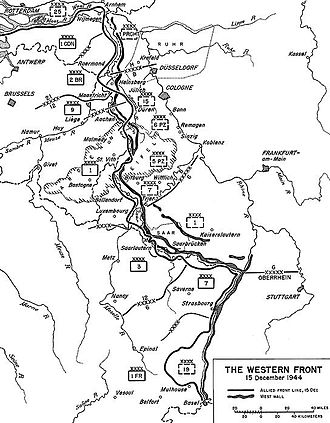 Battle of the Bulge - Situation on the Western Front as of 15 December 1944