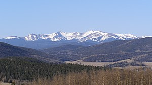 New Mexico - Wheeler Peak in the Sangre de Cristo Range