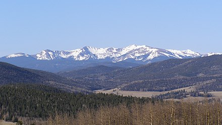 Wheeler Peak in the Sangre de Cristo Range Wheeler Pk from Valle Vidal.jpg