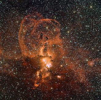 RCW Catalogue - NGC 3582, part of RCW 57, a large star-forming region in the Milky Way