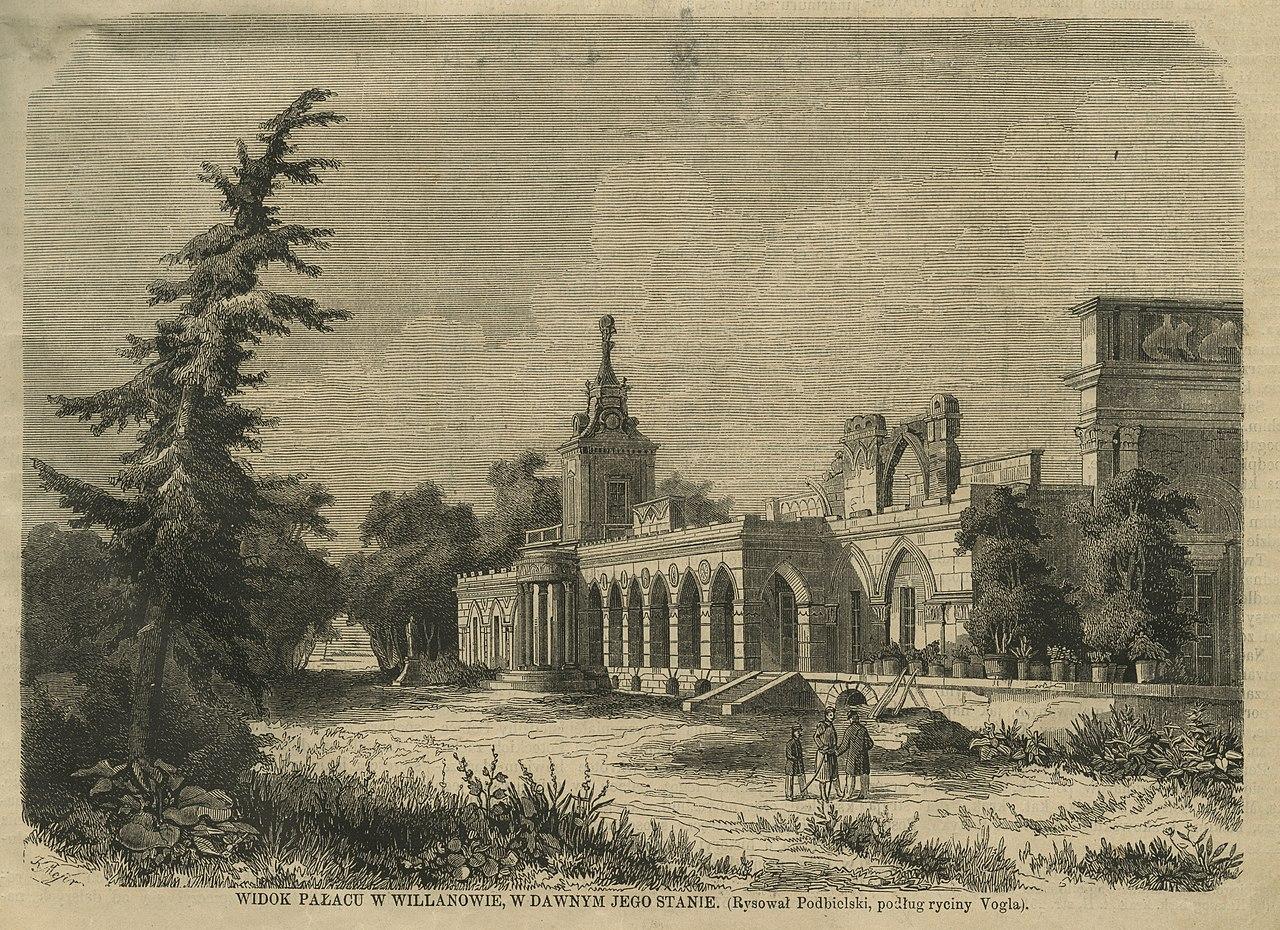 Widok pałacu w Wilanowie w dawnym jego stanie (43643) .jpg