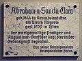 Wien Augustinerkirche Tafel Gedenktafel Abraham a Sancta Clara.jpg