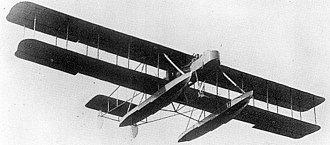 Wight Pusher Seaplane - Wight Pusher Seaplane at the  Olmypia exhibition hall in West London 1914