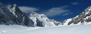 The Glacier Blanc with the Barre des Écrins